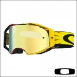 Oakley Airbrake MX High Voltage Red Yellow Lente 24K Iridium