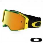 Oakley Airbrake MX Shockwave Green Yellow Lente 24k Iridium
