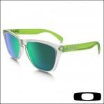 Oakley Frogskins Colorblock Collection Matte Clear  - Lente Jade Iridium