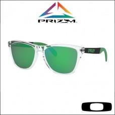 Oakley Frogskins Mix Polished Clear - Lente Prizm™ Jade Iridium